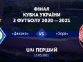 Телеканал UA:Перший покажет финал Кубка Украины-2020/21