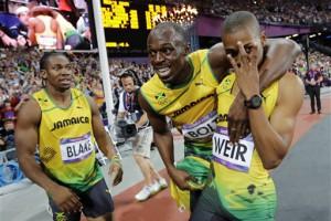 Ямайка: Йохан Блэйк, Усейн Болт и Уоррен Уэйр