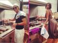 Роналду и Ирина Шейк отметили победу Реала, устроив барбекю-пати (ФОТО)