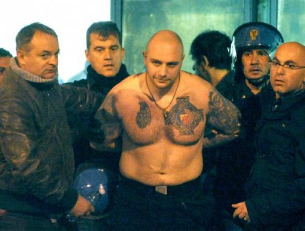 Иван Богданов во время департации в 2011 году из Италии