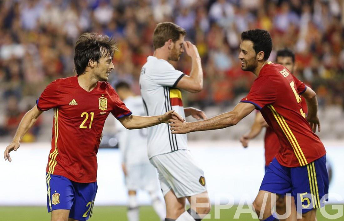 Товарищеские матчи: Испания – Бельгия 2:0