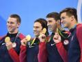 Фелпс выиграл золото в командном заплыве, став 23-кратным олимпийским чемпионом