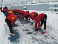 Зирка провела тренировку в снегу