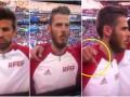 Пике во время исполнения гимна Испании показал на камеру средний палец