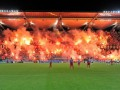 Зажгли трибуну. Фанаты Легии выразили недовольство наказанием UEFA