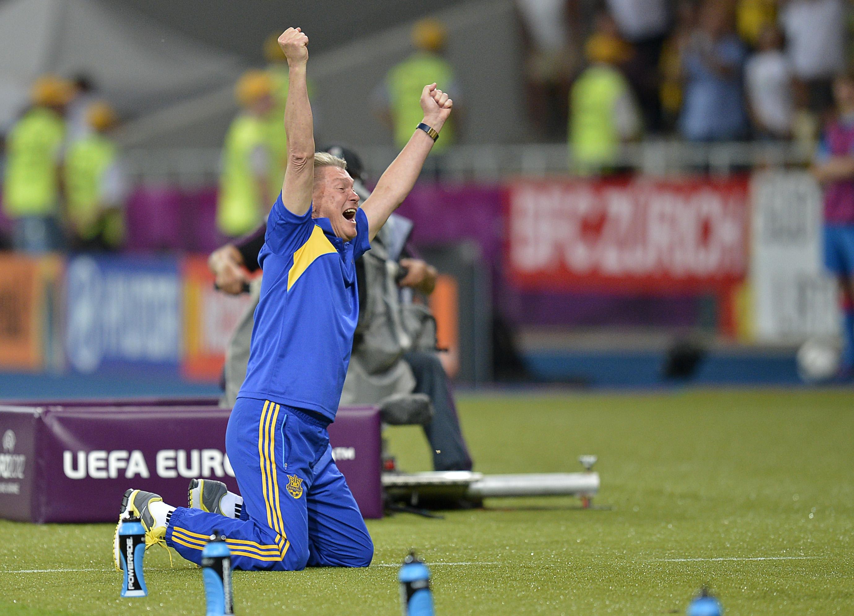 Реакция Блохина на второй гол Шевченко