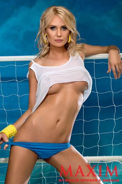 Жена Олега Гусева разделась для сборной Украины