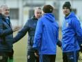 Как сборная Украины тренировалась под чутким взглядом Шевченко