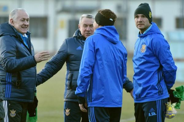 Тренировка сборной Украины перед матчем с Кипром