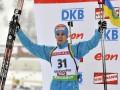 Фотогалерея: Как снег на голову. Украинский биатлонист сенсационно завоевывает серебро