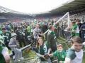 В стиле Динамо: Фанаты Хиберниана выбежали на поле после победы в Кубке Шотландии