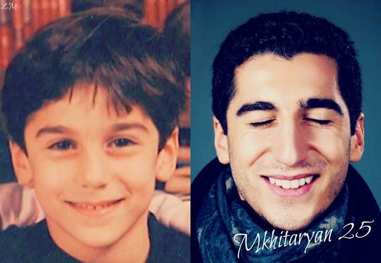 Герих Мхитарян в детстве и сейчас