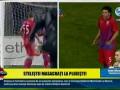 Румунські Пристрасті: Выбежавший на поле фанат напал на футболиста
