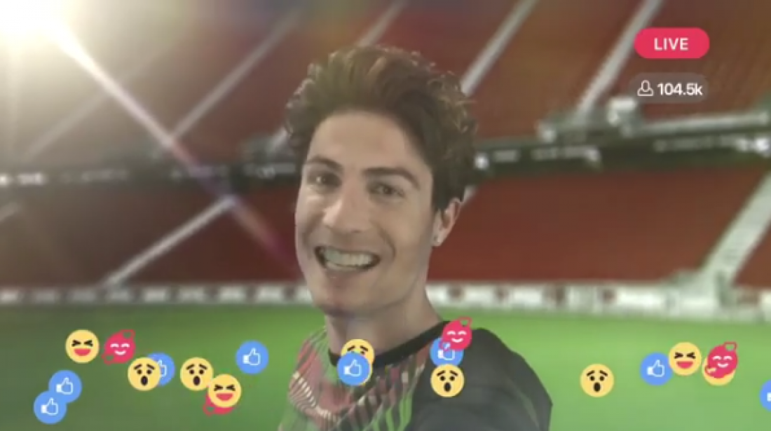 Роналду снялся в рекламе