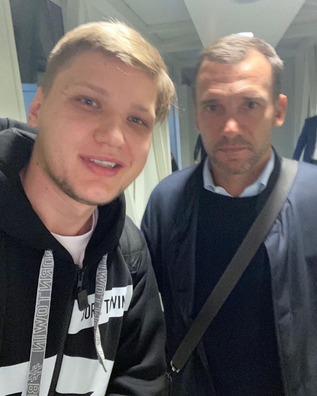 Александр s1mple Костылев и Андрей Шевченко