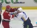 Поединок равных. Бой двух канадских тафгаев в КХЛ