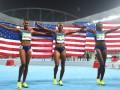 Американки выиграли все медали в беге на 100 метров с барьерами
