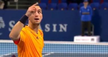 Забавный эпизод. Хитрый удар болгарского теннисиста