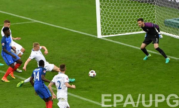 Исландия забивает в ворота Франции