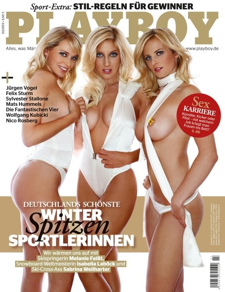 Обложка журнала со спортсменками