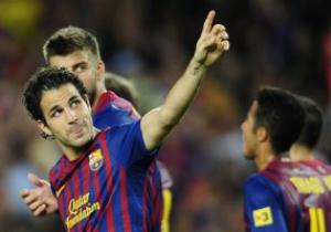 Фабрегас: Очень рад первому голу в футболке Барсы