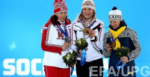 Пьедестал спринта на Олимпиаде в Сочи
