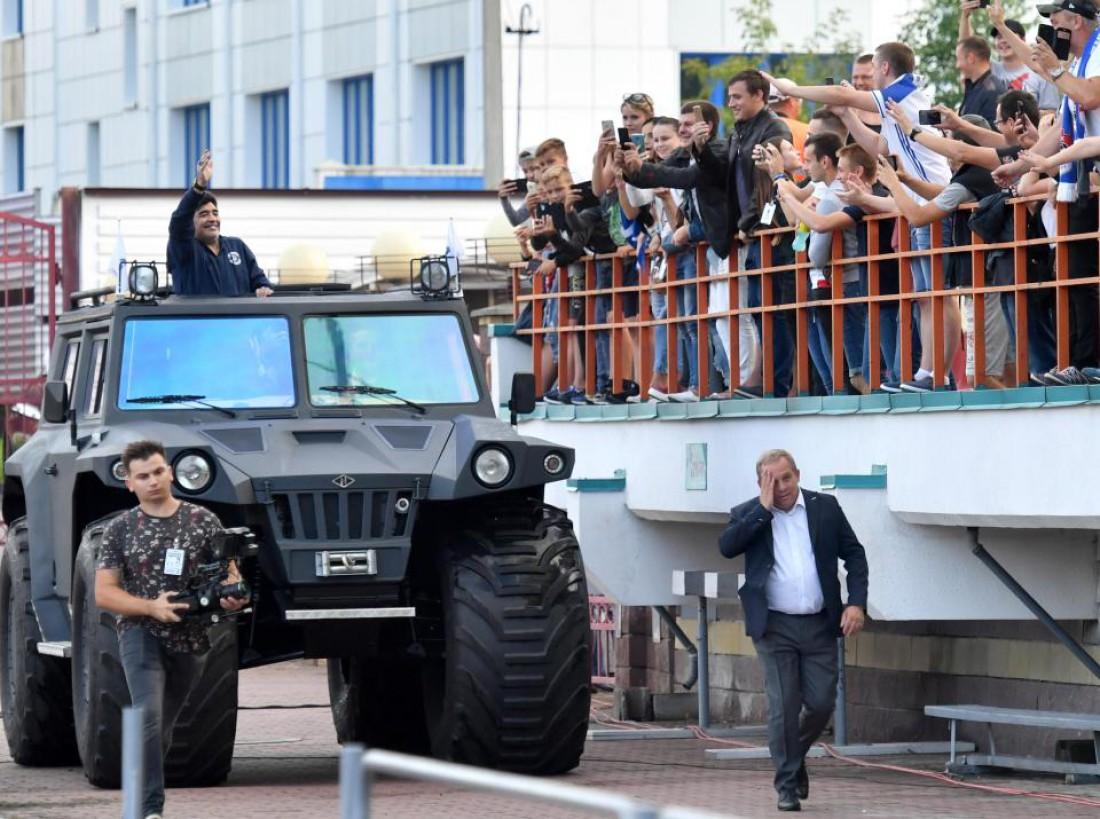 Диего Марадона прибыл в Беларусь