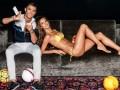 Криштиану Роналду пожонглировал мячем с известной супермоделью