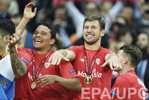 Севилья празднует победу в Лиге Европы