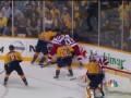 Рукоприкладство. Нокдаун в матче плей-офф NHL