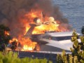 Президент Наполи едва не сгорел на собственной яхте