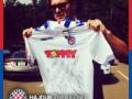 Милевский передал футболку со своим автографом в помощь украинской армии