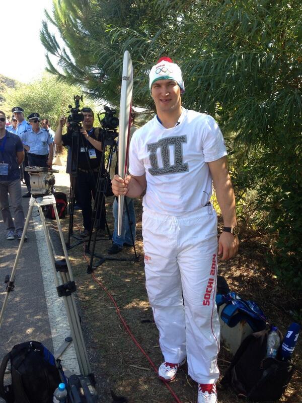 Александр Овечкин принял участие в эстафете Олимпийского огня