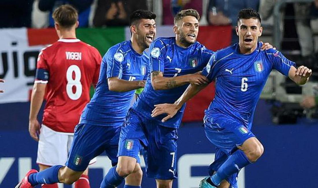 Сборная Италии победила Данию
