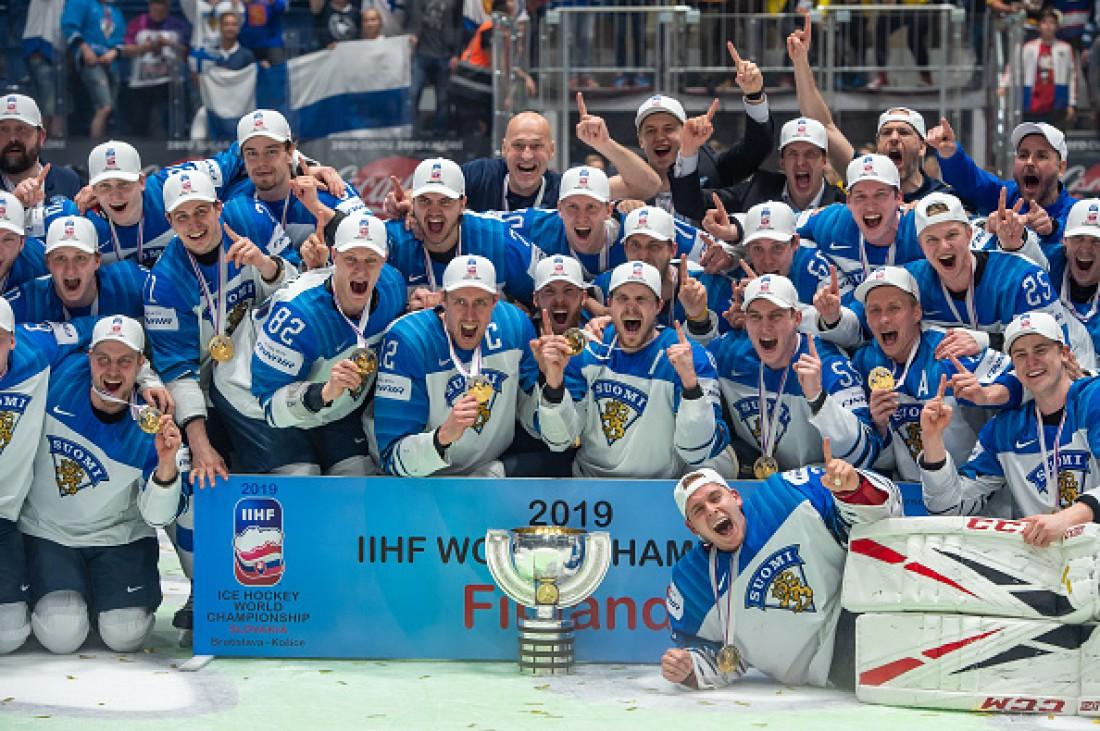 Сборная Финляндии - чемпион мира по хоккею-2019
