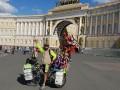 Аргентинский фанат завершил свой пятилетний путь на велосипеде на ЧМ-2018