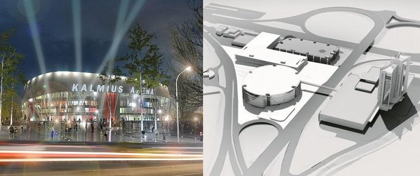 Слева- Кальмиус-Арена в Донецке, справа - Арена на Столичном в Киеве