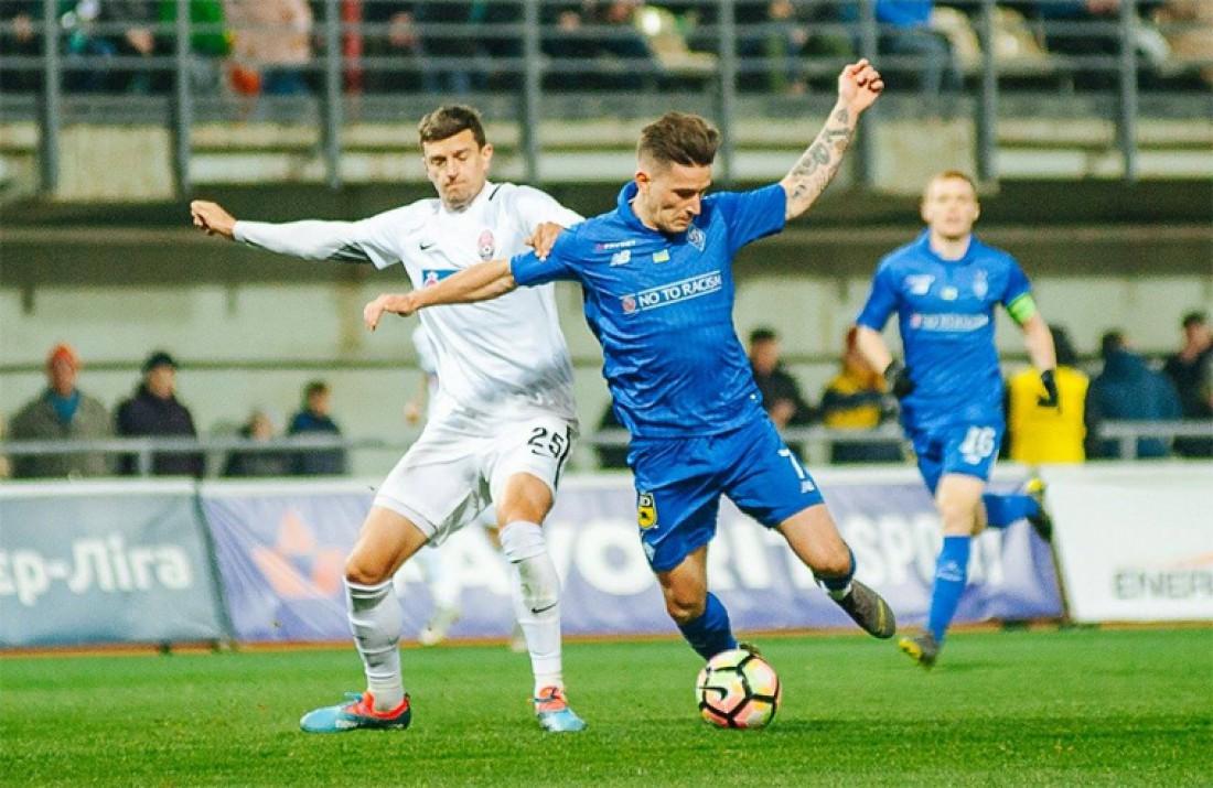 Заря упустила преимущество в матче с Динамо