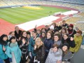 Киевские студенты отметили свой День экскурсией по НСК Олимпийский