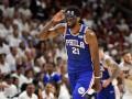 Эмбиид дебютировал в плей-офф НБА в маске