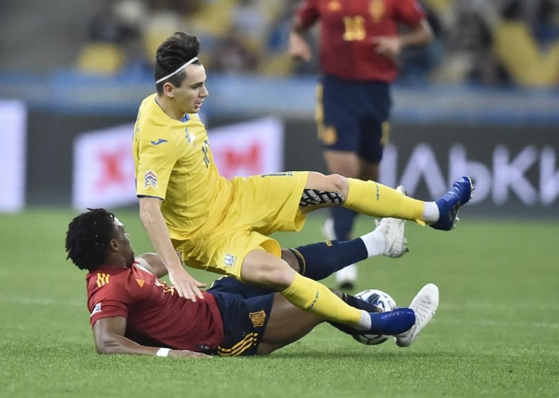 Сборная Украины в матче против Испании