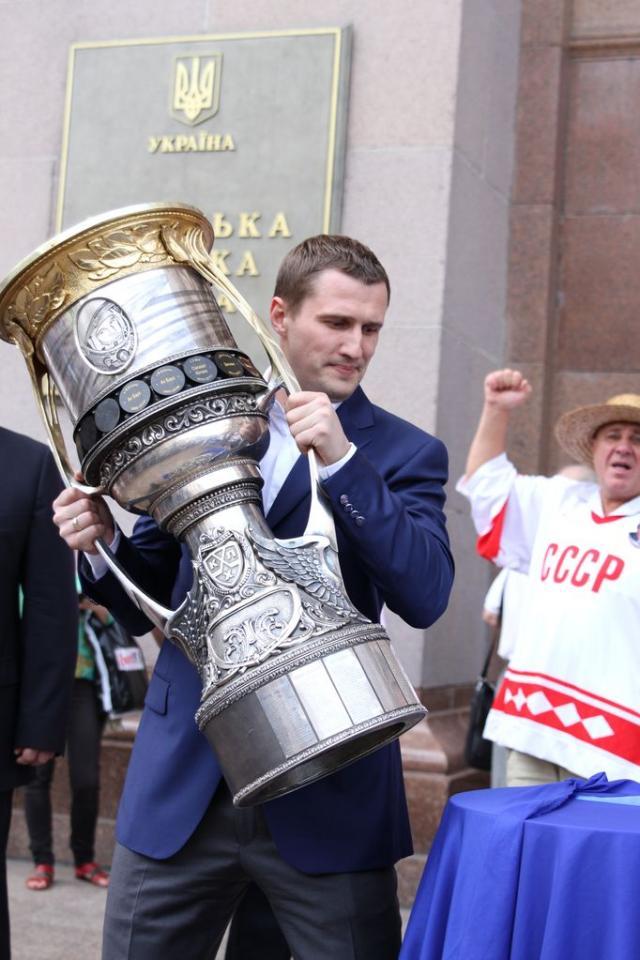 Касянчук привез в Киев Кубок Гагарина
