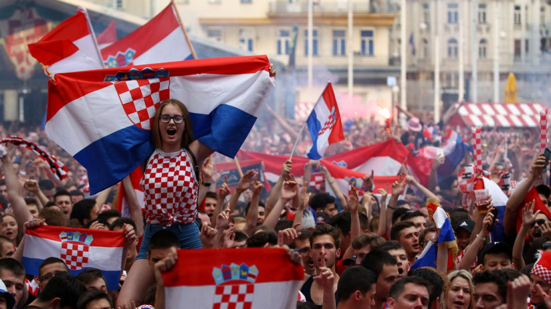 У Хорватии классные фанаты