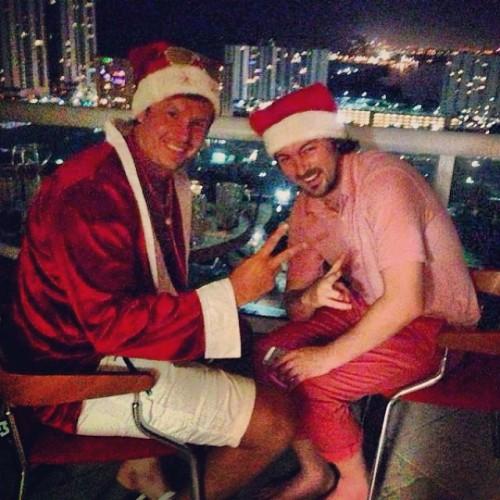 Милевский с Глебом отпраздновали Новый год