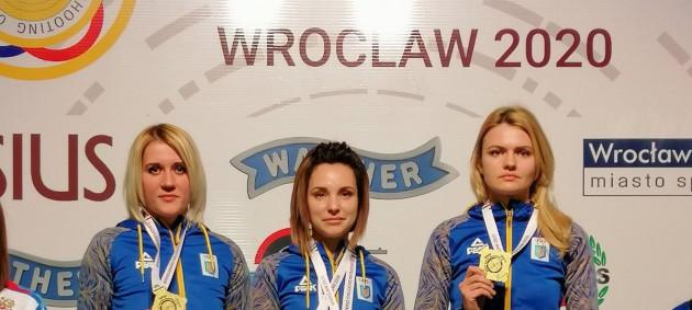 Женская сборная Украины завоевала золото чемпионата Европы в стрельбе по движущейся мишени