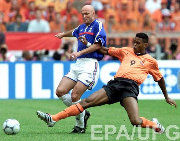 Франк Лебеф в составе сборной Франции на Евро-2000