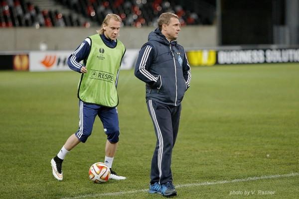 Тренировка Динамо во Франции