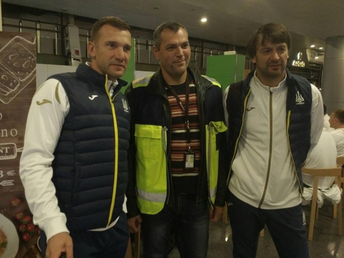 Сборная Украины отправилась в Италию