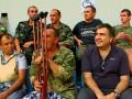Михаил Саакашвили побывал на матче Черноморец - Динамо вместе с раненым бойцами