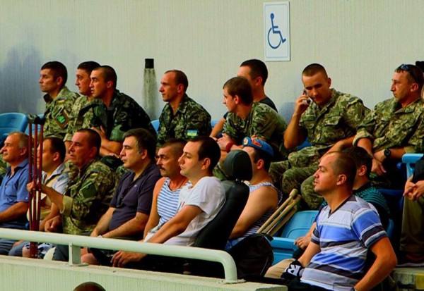 Михаил Саакашвили с бойцами АТО